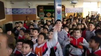 حال و هوای عجیب و غریب مدارس کشور هنگام بخش بازی پرسپولیس و کاشیما