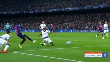 دمبله ؛ عملکرد عثمان دمبله ستاره فرانسوی بارسلونا در دیدار برابر تاتنهام