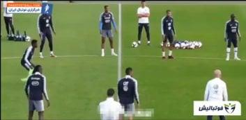 فوتبال ؛ حرکات تکنیکی و نمایشی ستاره های مطرح فوتبال در تمرینات