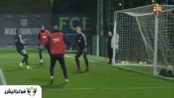 آخرین تمرین بارسلونا پیش از دیدار برابر ویارئال در هفته چهاردهم لالیگا
