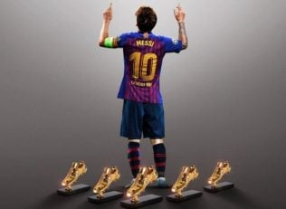 کلیپ باشگاه بارسلونا به مناسبت پنجمین کفش طلای لیونل مسی