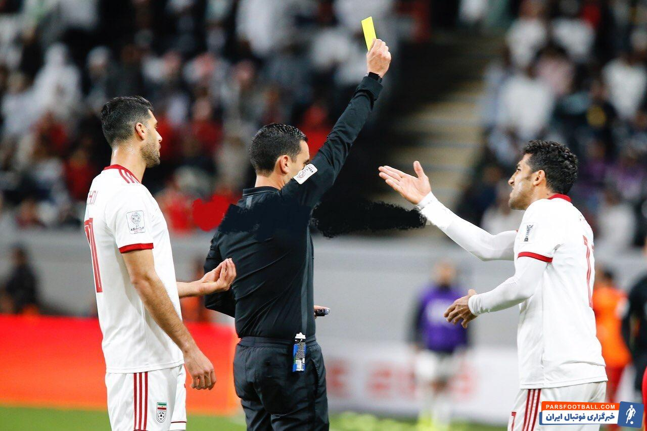 وحید امیری با گرفتن یک کارت زرد از بازی بعد محروم شد وحید امیری ستاره تیم ملی ایران در بازی دیروز کارت زرد گرفت تا دیدار حساس مقابل چین را از دست بدهد.