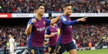 قرار گرفتن سوارز در رده پنجین گلزن برتر تاریخ بارسلونا
