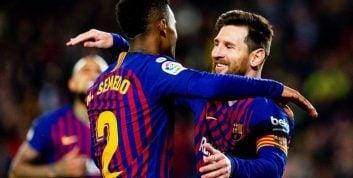 بارسلونا ؛ درخشش مسی و گلزنی برابر تیم لگانس در رقابت های لالیگا