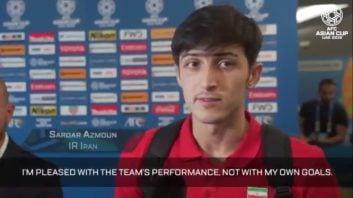 مصاحبه دوربین AFC با سردار آزمون پس از درخشش برابر ویتنام در جام ملت ها