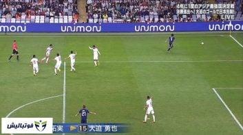 صحنه مشابه گل اول ژاپن به ایران در دیدار منچسترسیتی و برنلی در لیگ برتر انگلیس