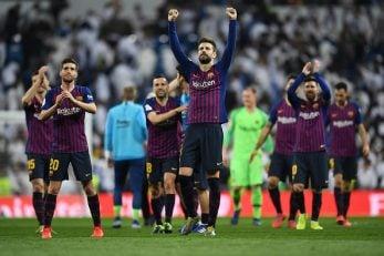 جرارد پیکه در جریان ال کلاسیکو نمایش خوبی داشت جرارد پیکه مدافع اسپانیایی بارسلونا، جشن شادی مفصلی در کنار دیگر بازیکنان بعد از حذف رئال مادرید برپا کرد.