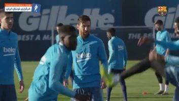 بارسلونا ؛ تمرین ستاره های باشگاه بارسلونا قبل از دیدار برابر سویا در لالیگا