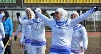 فردوسیپور ؛ تصویری از پوشش نامناسب بازیکن تیم بانوان ملوان که سانسور نشد