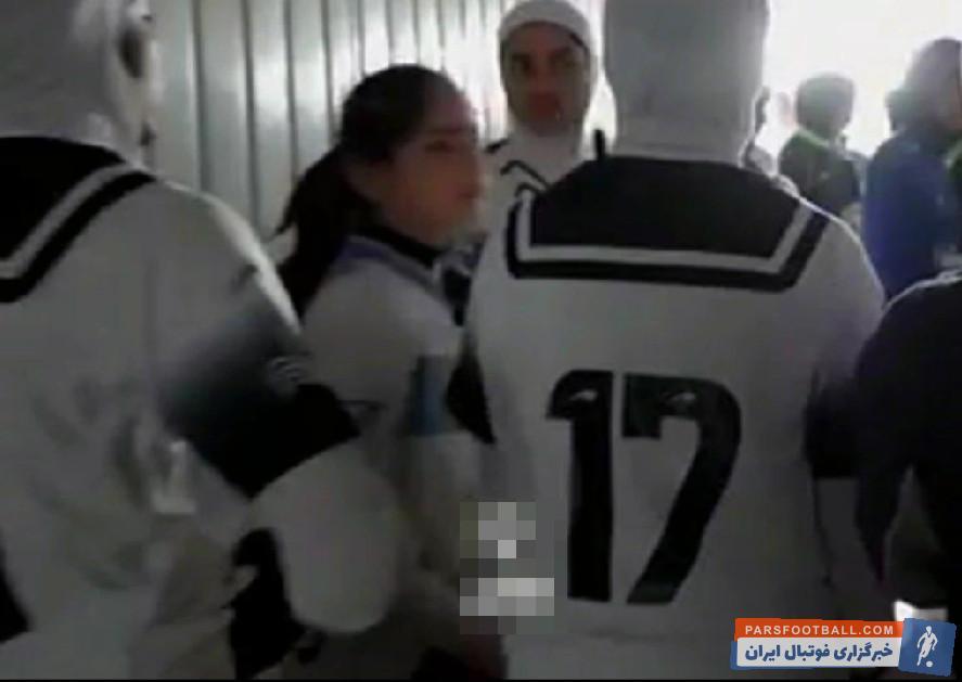 ملوان ؛ تصویری از پوشش نامناسب بازیکن تیم بانوان ملوان که سانسور نشد
