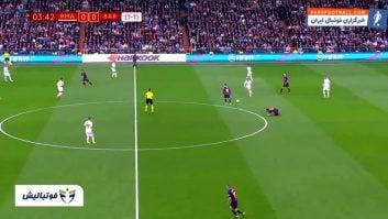 عملکرد مسی در دیدار بارسلونا برابر رئال مادرید در جام حذفی اسپانیا