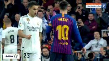 عملکرد مسی در دیدار بارسلونا برابر رئال مادرید رقابت های لالیگا