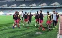 آخرین تمرین تیم فوتبال پرسپولیس پیش از بازی پرسپولیس مقابل پاختاکور اربکستان امروز در زمین اصلی ورزشگاه آزادی برگزار شد.