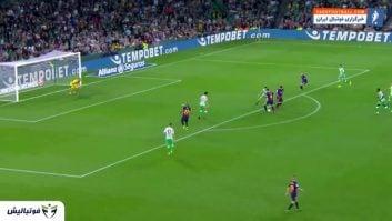 عملکرد لیونل مسی در دیدار بتیس برابر بارسلونا رقابت های لالیگا 2018/2019