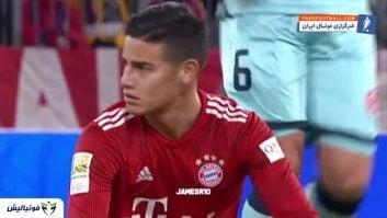 عملکرد خامس رودریگز در دیدار برابر ماینتس رقابت های بوندس لیگا آلمان 2018/2019