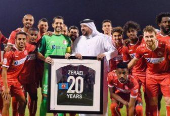 مسعود زراعی دروازه بان ایرانی الاصل باشگاه العربی است مسعود زراعی همان طور که پیش از این اعلام کرده بود در پایان فصل از دنیای فوتبال خداحافظی خواهد کرد