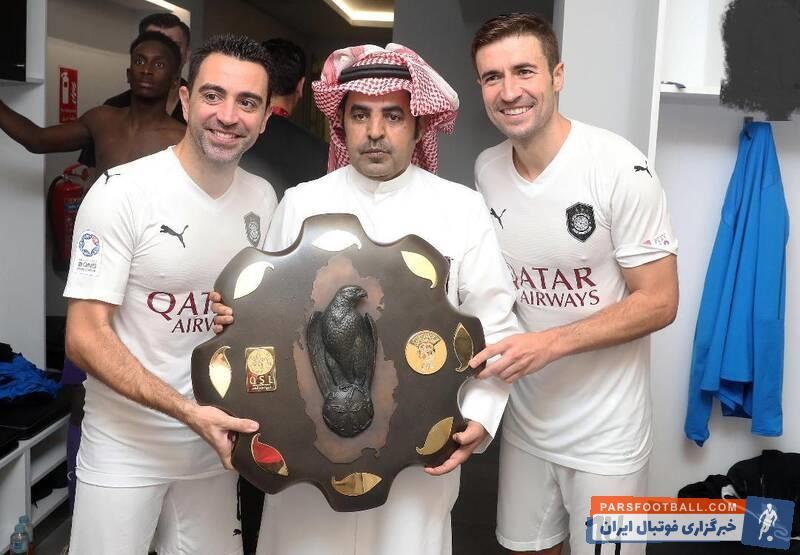 ژاوی اعلام کرده در پایان فصل کفش هایش را می آویزد ژاوی جام قهرمانی لیگ قطر را بالای سر برد و با گابی، جشن قهرمانی گرفت.