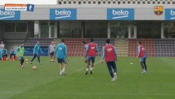 بارسلونا ؛ تمرین بازیکنان باشگاه فوتبال بارسلونا قبل از دیدار سرنوشت ساز برابر لیورپول