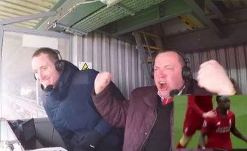 واکنش هیجانانگیز گزارشگران بازی چلسی- لیورپول در ورزشگاه آنفیلد