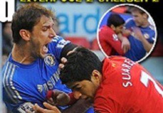 وقتی سوارز دست برانیسلاو ایوانوویچ ، مدافع چلسی را گاز گرفت!