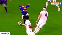 عملکرد مسی در دیدار بارسلونا برابر منچستریونایتد لیگ قهرمانان اروپا