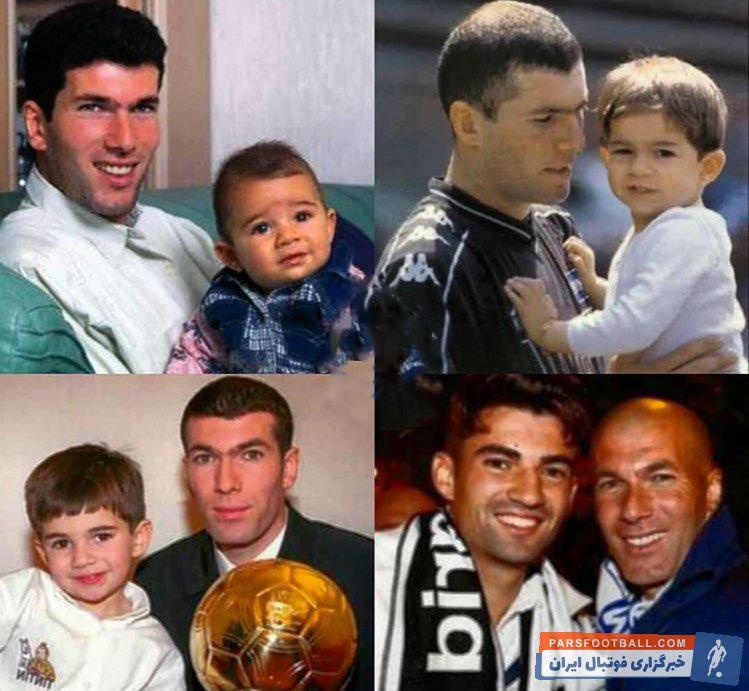 زیدان ؛ تصویری از زین الدین زیدان و پسرش انزو در گذر زمان ؛ خبرگزاری پارس فوتبال