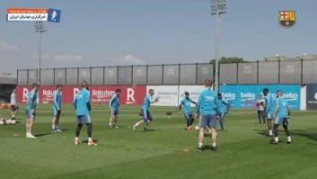 تمرین بارسلونا قبل از دیدار برابر والنسیا در جام حذفی اسپانیا