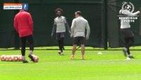 تمرین لیورپول قبل از فینال لیگ قهرمانان اروپا برابر تاتنهام