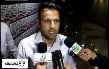 مصاحبه با محسن خلیلی در پایان دیدار پرسپولیس - ماشین سازی