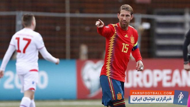 در جریان پیروزی دیروز اسپانیا مقابل جزایر فارو در انتخابی جام ملتهای اروپا سرخیو راموس گلزنی کر راموس رکورد تعداد پیروزیهای ملی در اسپانیا را شکست.