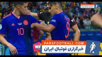 خامس ؛ عملکرد خامس رودریکز در دیدار تیم فوتبال کلمبیا برابر آرژانتین
