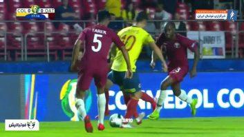 عملکرد خامس رودریگز بازیکن کلمبیا در دیدار برابر قطر در مرحله گروهی کوپا آمه ریکای 2019
