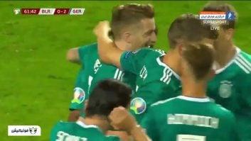 خلاصه بازی بلاروس 0-2 آلمان مقدماتی رقابت های یورو 2020