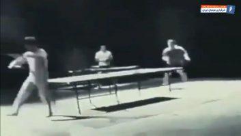پینگ پنگ بازی کردن بروس لی با نانچیکو