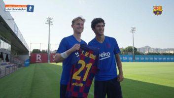 دی یونگ ؛ رونمایی از شماره پیراهن فرنکی دی یونگ خرید جدید باشگاه بارسلونا