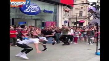 رونالدو ؛ چالش جذاب پرش به اندازه کریس رونالدو در خیابان های لندن