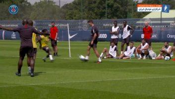 پاری سن ژرمن ؛ تمرین بازیکنان باشگاه پاری سن ژرمن فرانسه با حضور خرید های جدید