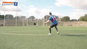 آموزش ضربه ایستگاهی از سوی گرت بیل ستاره باشگاه رئال مادرید