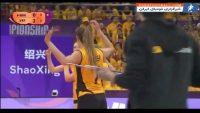 والیبال ؛ امتیاز گیری تیم حریف به خاطر برخورد توپ با موهای مدافع