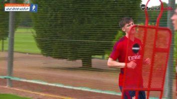 تیرنی ؛ اولین حضور کیران تیرنی در تمرینات باشگاه فوتبال آرسنال انگلیس