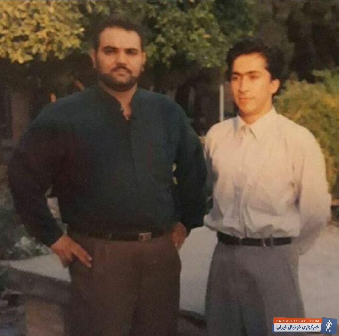 تصویری قدیمی و جالب از تیپ جواد خیابانی گزارشگر فوتبال و داوود عابدی خبرنگار شبکه خبر