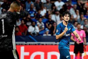 آزمون ؛ گل تیمی زیبای سردار آزمون در دیدار برابر لیون در لیگ قهرمانان اروپا