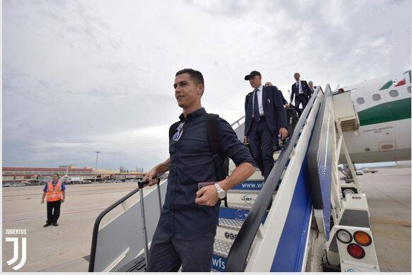 کاروان تیم یوونتوس برای اولین اکران اروپایی فصل به همراه کریس رونالدو وارد مادرید شد تا رونالدو ستاره اسبق رئال مادرید بازهم به این شهر بازگردد.