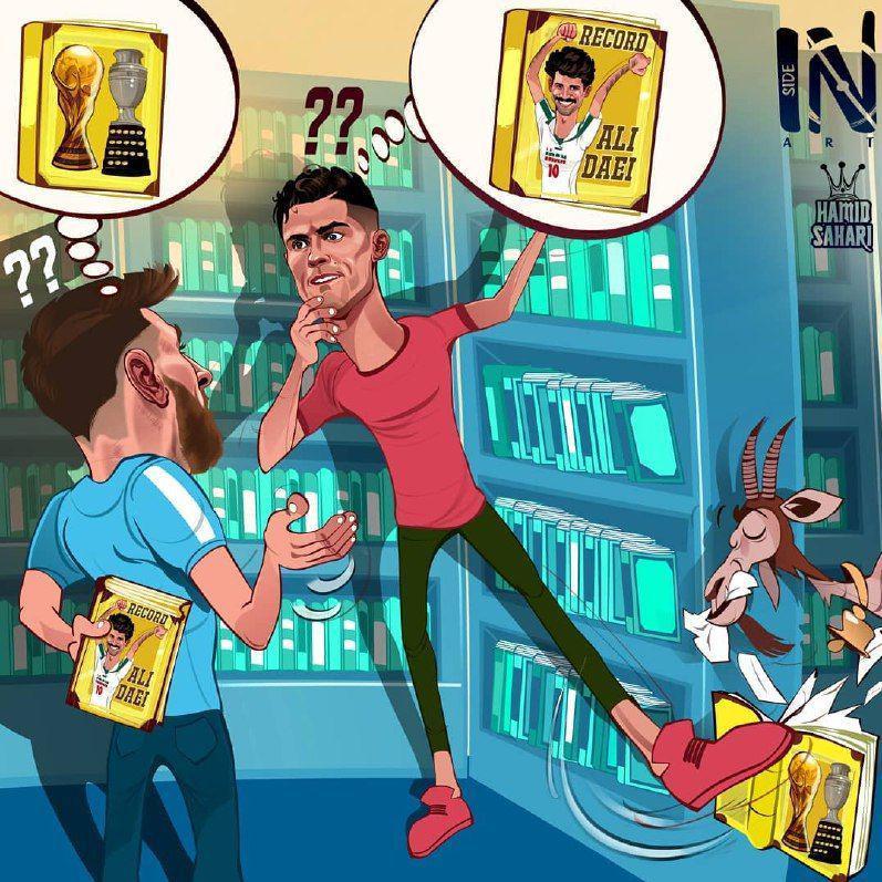 کریس رونالدو ۱۶ گل تا رسیدن به رکورد علی دایی فاصله دارد. این مرتبه رقیب بزرگ فوقستاره پرتغالی لیونل مسی نیست و ستاره سابق خط حمله ایران است.