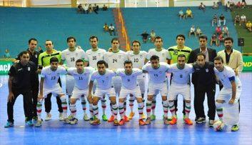حضور تیم ملی فوتسال ایران در رتبه سوم جهان