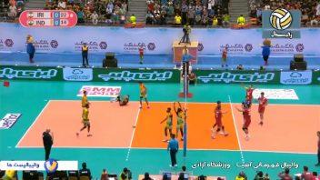 ایران ؛ خلاصه بازی والیبال ایران 3-0 هند قهرمانی آسیا 2019 ؛ خبرگزاری پارس فوتبال