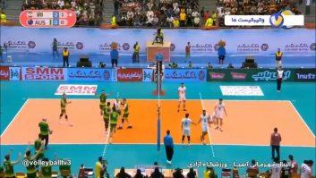 خلاصه بازی والیبال ایران 3-0 استرالیا قهرمانی آسیا 2019