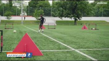 فوتبال ؛ چالش جذاب و دیدنی گلزنی به دروازه کوچک از بازیکنان رئال مادرید