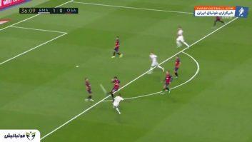 خلاصه بازی رئال مادرید 2-0 اوساسونا لالیگا اسپانیا 2019/2020