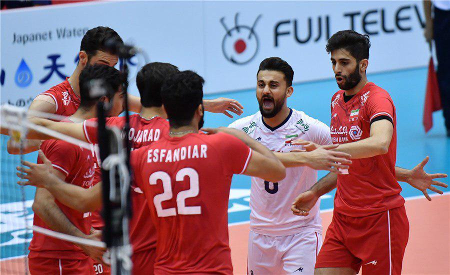 پیروزی سه بر صفر تیم ملی والیبال ایران برابر تونس در مسابقات جام جهانی 2019 ژاپن